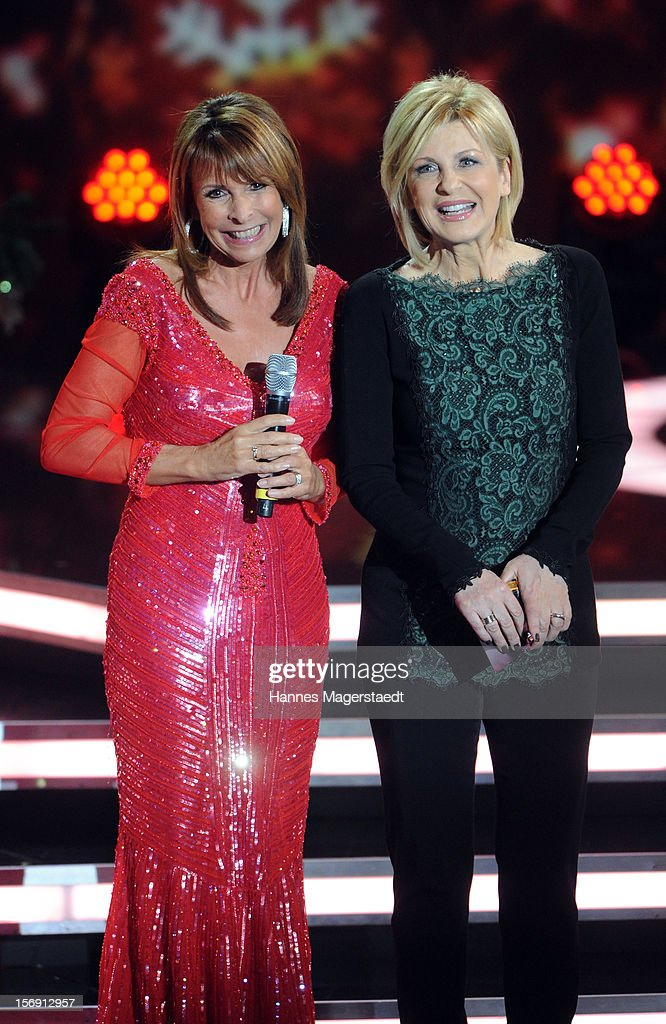 Ireen Sheer and Carmen Nebel attend the 'Heiligabend Mit Carmen Nebel' Show Taping at the Bavaria Studios on November 24, 2012 in Munich, Germany.