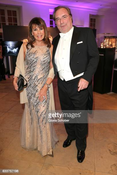 Ireen Sheer and her husband KlausJuergen Kahl during the Semper Opera Ball 2017 reception at Hotel Taschenbergpalais Kempinski on February 3 2017 in...
