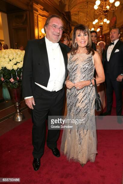 Ireen Sheer and her husband KlausJuergen Kahl during the Semper Opera Ball 2017 at Semperoper on February 3 2017 in Dresden Germany