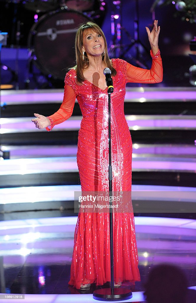 Ireen Sheer attends the 'Heiligabend Mit Carmen Nebel' Show Taping at the Bavaria Studios on November 24, 2012 in Munich, Germany.