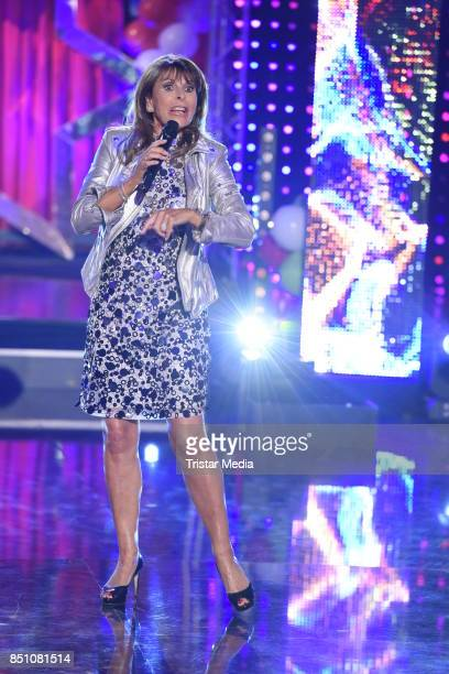 Ireen Sheer during the 'Meine Schlagerwelt Die Faschingsparty' MDR TV Show on September 21 2017 in Leipzig Germany