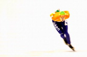 Ireen Wust of Netherlands competes in the 3000m Ladies race during the Essent ISU European Speed Skating Championships 2013 at Thialf Stadium on...