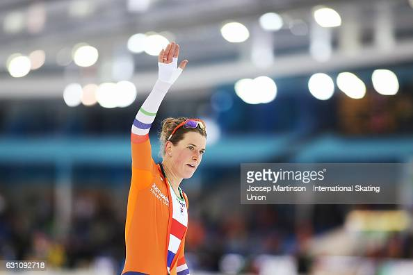 Ireen Wust of Netherlands competes in the Ladies Allround 3000m during day 1 of the European Speed Skating Championships at icerink Thialf on January...