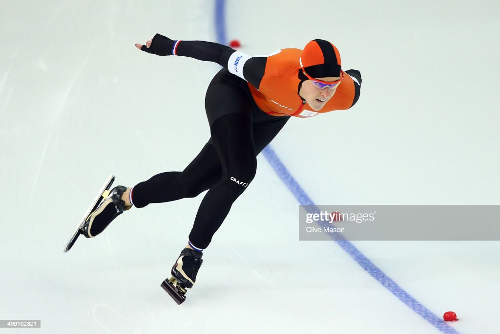Ireen Wust of the Netherlands competes during the Women's 1000m Speed Skating event on day 6 of the Sochi 2014 Winter Olympics at Adler Arena Skating Center on February 13, 2014 in Sochi, Russia.
