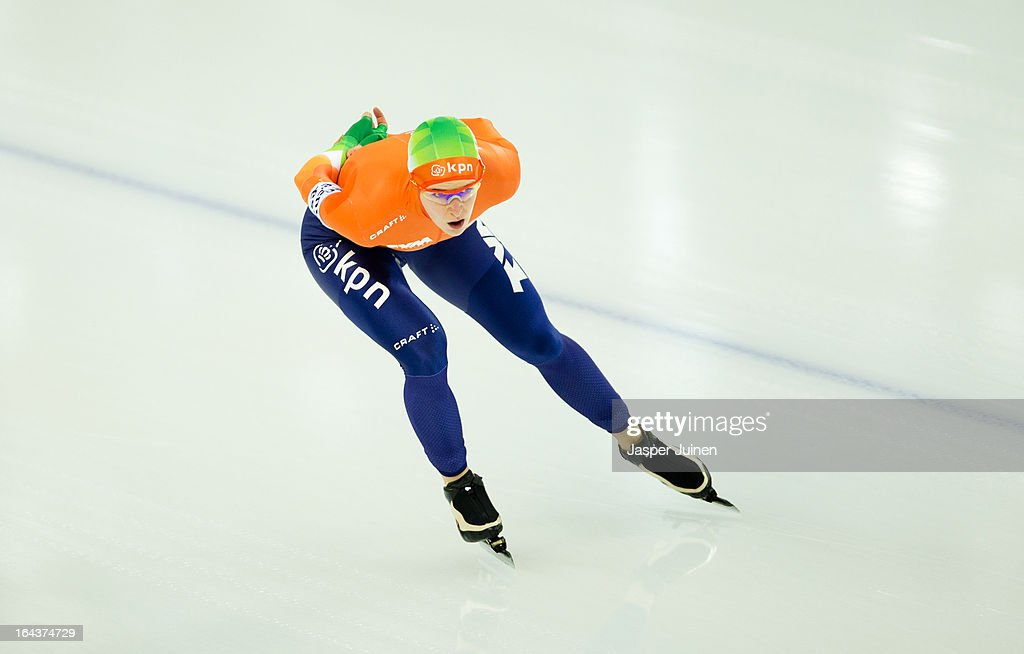 Ireen Wust of the Netherlands competes on her way to silver during the 5000m race on day three of the Essent ISU World Single Distances Speed Skating Championships at the Adler Arena Skating Center on March 23, 2013 in Sochi, Russia.
