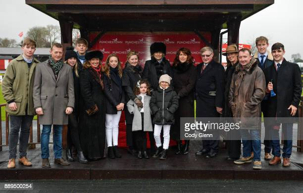 NAAS Ireland 10 December 2017 Members of the Durkan family join trainer Jessica Harrington centre after her win in the John Durkan Memorial...