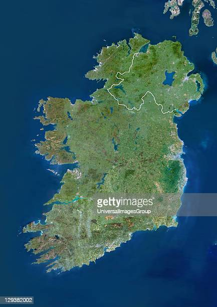 Ireland and Northern Ireland Truecolour satellite image of Ireland and Northern Ireland with border North is at top Dublin the capital of the...
