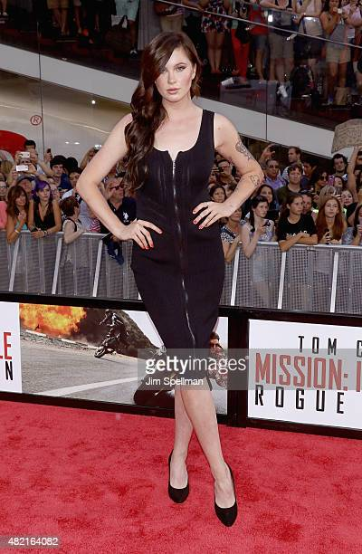 Ireland Baldwin attends the 'Mission Impossible Rogue Nation' New York premiere at Times Square on July 27 2015 in New York City