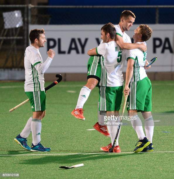 Ireland celebrate during day 8 of the FIH Hockey World League Men's Semi Finals 5th6th place match between New Zealand and Ireland at Wits University...