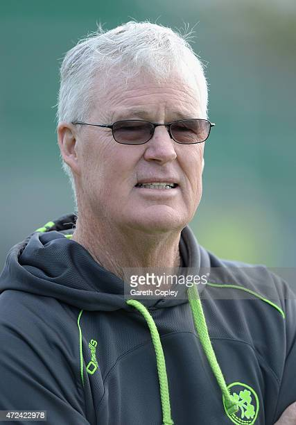 Ireland coach John Bracewell during a nets session on May 7 2015 in Malahide Ireland