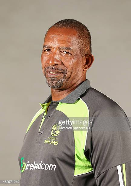 Ireland coach Phil Simmons poses during the Ireland 2015 ICC Cricket World Cup Headshots Session at the Intercontinental on February 8 2015 in Sydney...