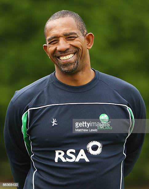 Ireland coach Phil Simmons smiles during a nets session at Lady Bay Cricket Club on June 9 2009 in Nottingham England