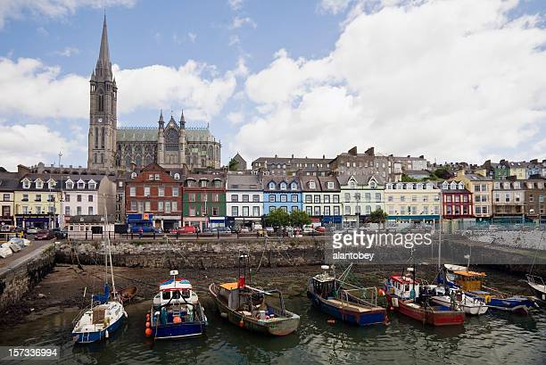 Ireland:  Cobh Harbor and Cathedral, County Cork