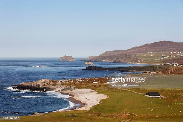 Ireland, County Donegal, View of Esky Bay at Malin Head