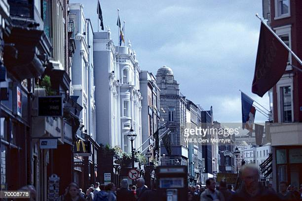 Ireland, County Dublin, Dublin, Grafton Street, buildings, people