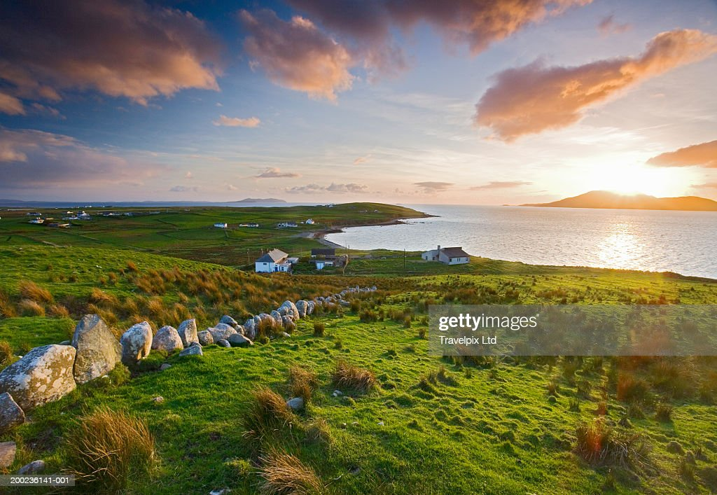 Ireland, County Mayo, Clare Island, sunset : Stock Photo