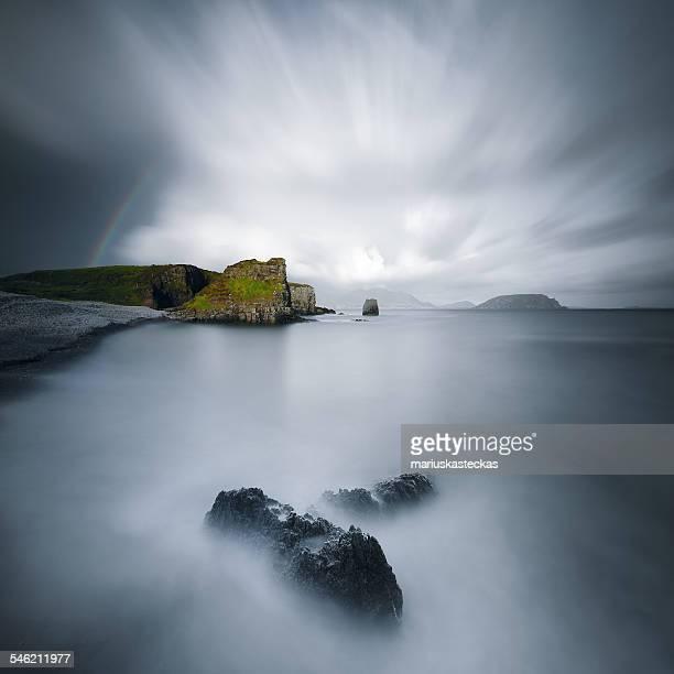 Ireland, Donegal, Long exposure shot of sea