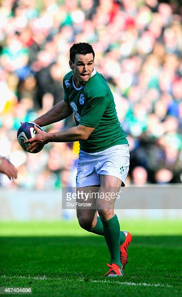 Ireland fly half Jonathan Sexton in action during the RBS Six Nations match between Scotland and Ireland at Murrayfield Stadium on March 21 2015 in...