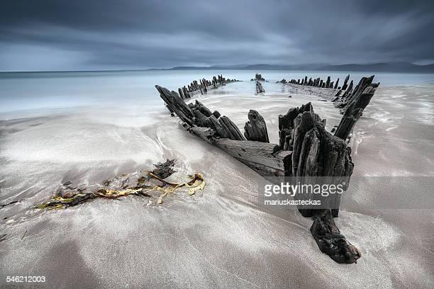 Ireland, Kerry, Rossbeigh, Shipwreck