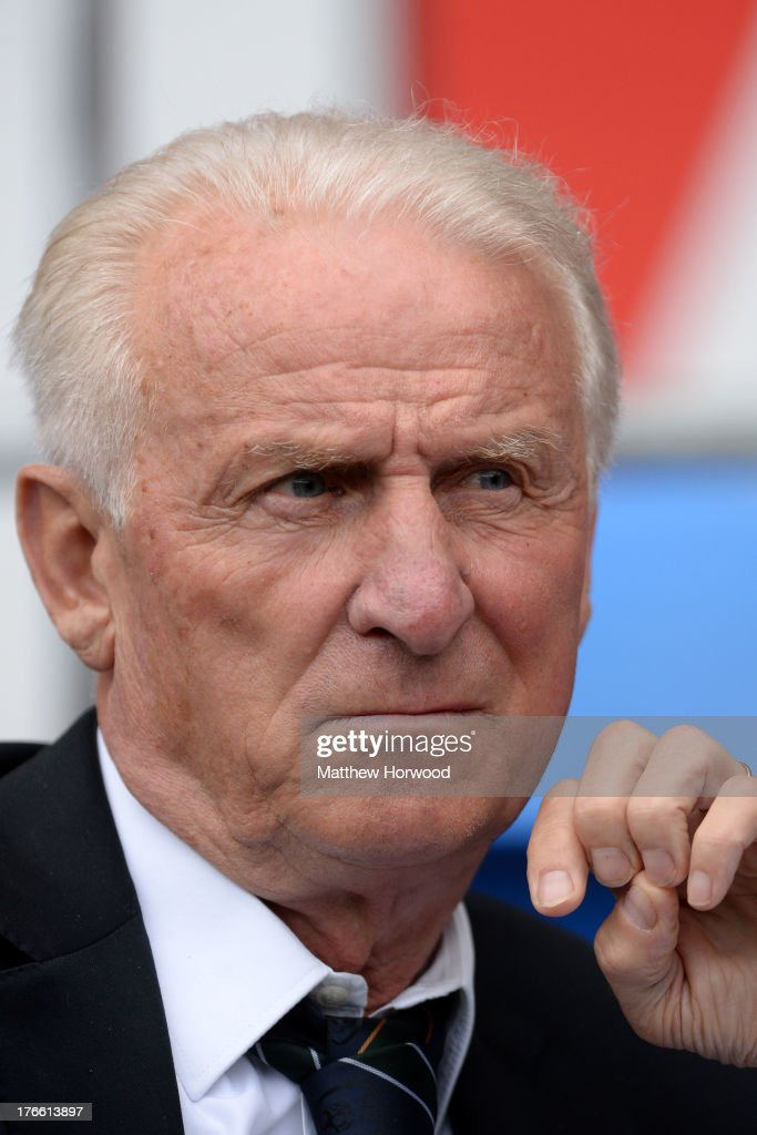 Ireland national team manager <a gi-track='captionPersonalityLinkClicked' href=/galleries/search?phrase=Giovanni+Trapattoni&family=editorial&specificpeople=209002 ng-click='$event.stopPropagation()'>Giovanni Trapattoni</a> looks on during the International Friendly match between Wales v Ireland at the Cardiff City Stadium on August 14, 2013 in Cardiff, Wales.