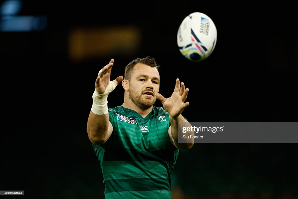 Ireland player Cian Healy in action during Ireland Captains Run ahead of their opening 2015 Rugby World Cup match against Canada at Millennium...