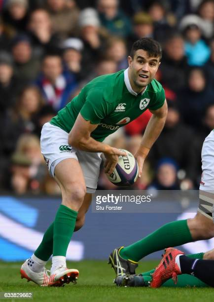 Ireland player Conor Murray in action during the RBS Six Nations match between Scotland and Ireland at Murrayfield Stadium on February 4 2017 in...