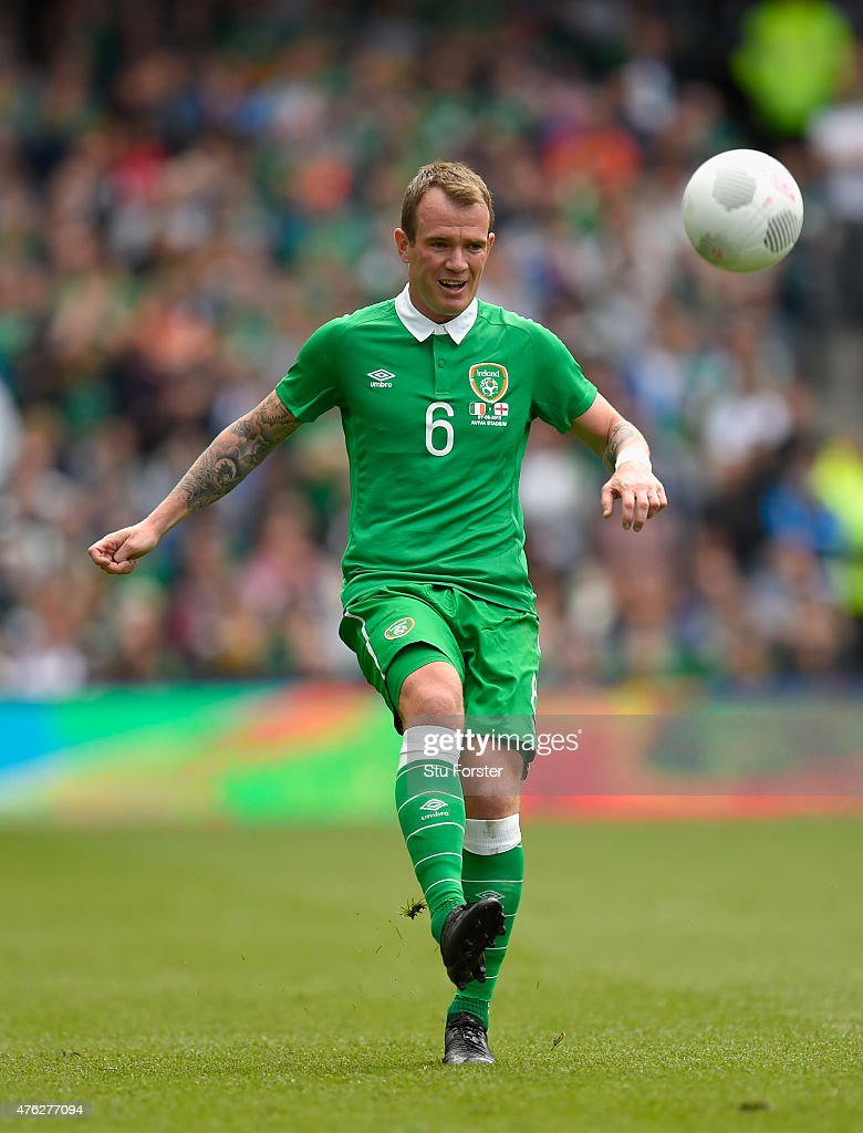 Ireland player <a gi-track='captionPersonalityLinkClicked' href=/galleries/search?phrase=Glenn+Whelan&family=editorial&specificpeople=878267 ng-click='$event.stopPropagation()'>Glenn Whelan</a> in action during the International friendly match between Republic of Ireland and England at Aviva Stadium on June 7, 2015 in Dublin, Ireland.