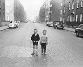 two boys on a street of Dublin 1967