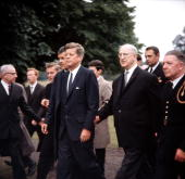 Ireland President of the United States of America John F Kennedy is pictured with Irish Prime Minister Eamon De Valera
