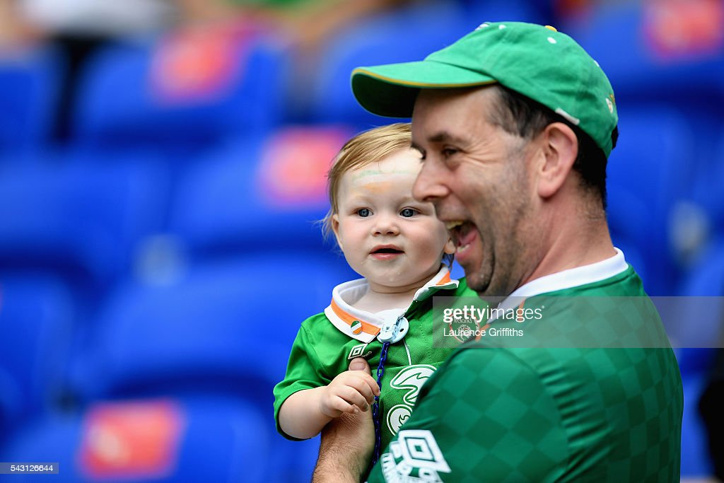 Ireland supporters are seen prior to the UEFA EURO 2016 round of 16 match between France and Republic of Ireland at Stade des Lumieres on June 26, 2016 in Lyon, France.