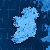 Ireland Topographic Map