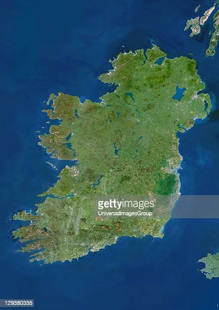 Ireland Truecolour satellite image of Ireland North is at top The island's main cities are Dublin and Belfast Ireland is often called the 'Emerald...