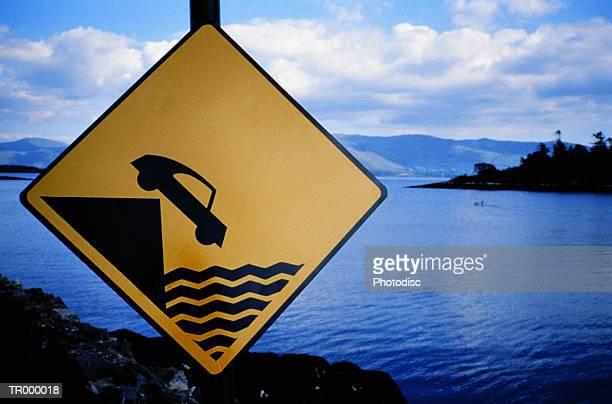 Ireland - Warning! Car Over Cliff