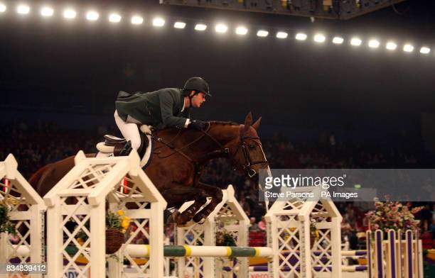 Ireland's Billy Twomey riding Fantasia competes in the Dick Turpin Stakes during day three of the Horse of the Year Show at the NEC in Birmingham
