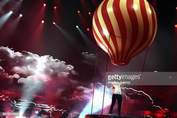 Ireland's Brendan Murray performs with the song 'Dying to Try' during the second semifinal dress rehearsal of Eurovision Song Contest 2017 at the...