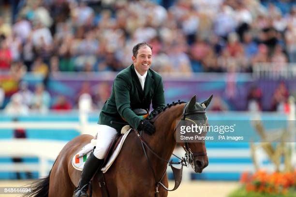 Ireland's Cian O'Connor riding Blue Loyd 12 in the Equestrian Jumping Individual Final Round B at Greenwich Park on the twelfth day of the London...