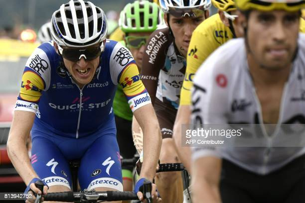 Ireland's Daniel Martin rides in a breakaway during the 2145 km twelfth stage of the 104th edition of the Tour de France cycling race on July 13 2017...