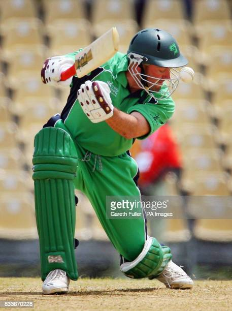 Ireland's Jeremy Bray in action during their warmup match against Canada at St Augustine Trinidad