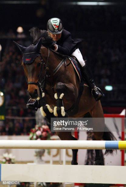 Ireland's Jessica Kurten on Castle Forbes Libertina jumps in the first round of the Rolex FEI World Cup Qualifier during The London International...