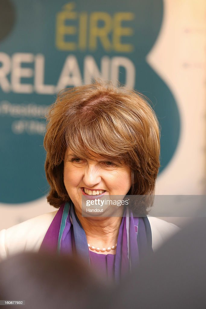 Ireland's Minister for Social Protection, Joan Burton, TD attends the Informal Meeting of Ministers for Employment and Social Affairs (EPSCO) in Dublin Castle, on February 7, 2013 in Dublin, Ireland.