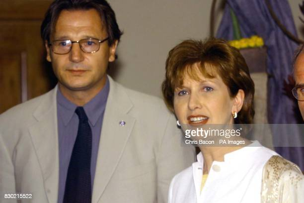 Ireland's President Mary McAleese and actor Liam Neeson who plays Jedi master QuiGon Jinn in the film arrive for the Dublin Premiere of Stars Wars...
