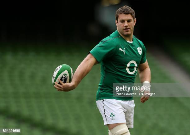Ireland's Sean O'Brien during the captain's run at the Aviva Stadium Dublin