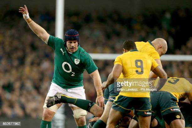 Ireland's Sean O'Brien during the Guinness Series match at the Aviva Stadium Dublin Ireland