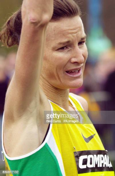 Ireland's Sonia O'Sullivan after winning the Women's five mile race at the Balmoral Road Races in the grounds of Balmoral Castle Royal Deeside...