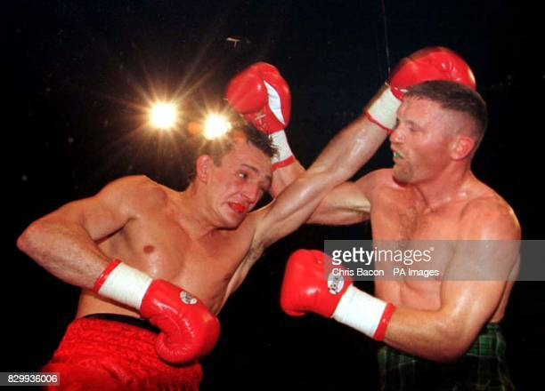 Ireland's Steve Collins in action against Craig Cummings of the USA in tonights WBO SuperMiddleweight Championship in Glasgow Collins went to beat...