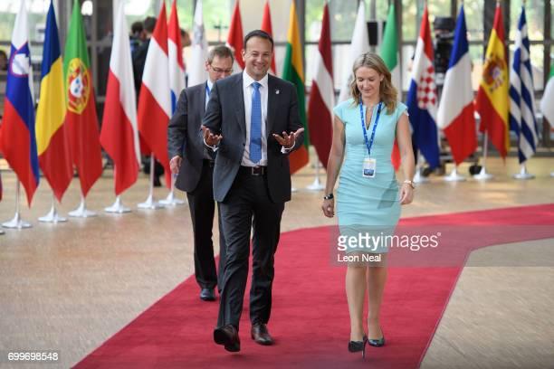Ireland's Taoiseach Leo Varadkar arrives at the EU Council headquarters ahead of a European Council meeting on June 22 2017 in Brussels Belgium