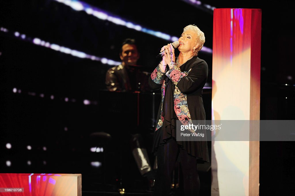 Irena Dudacek performs during the 'Das Supertalent' Semi Finals on December 08, 2012 in Cologne, Germany.