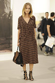 Irena Sidorova is seen wearing a Marni dress Celine bag and Aquazella shoes during Art Basel Miami Beach on December 3 2014 in Miami Beach Florida