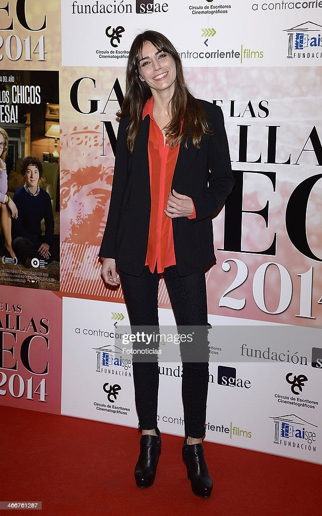 Irene Alonso attends the 'CEC' medals 2014 ceremony at the Palafox cinema on February 3, 2014 in Madrid, Spain.