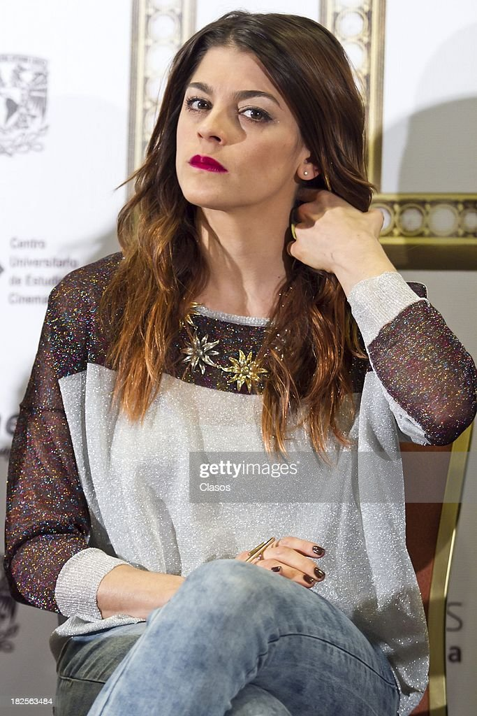 Irene Azuela during a press conference of te Mexican film Tercera Llamada at the Maria Isabel Sheraton Hotel on September 30, 2013 in Mexico City, Mexico.